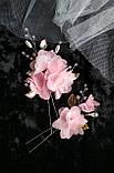 Прикраса для волосся з шифоновими квітами, фото 2