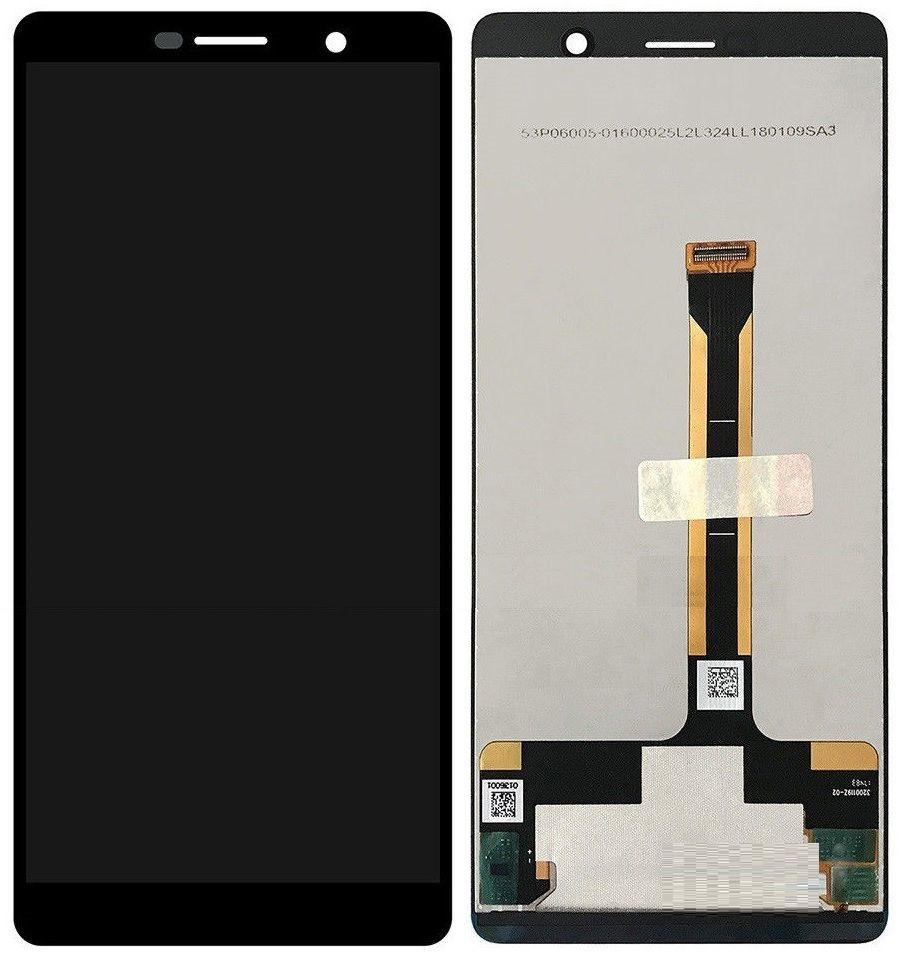 Дисплей Nokia 7 Plus Dual Sim (TA-1046, TA-1055) + сенсор черный