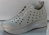 Кроссовки женские кожаные от производителя модель КЛ2151, фото 2