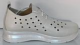 Кроссовки женские кожаные от производителя модель КЛ2151, фото 3
