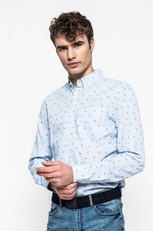 Сорочка чоловіча слім блакитна Medicine S, фото 2