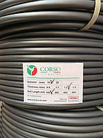 Сліпа багаторічна труба Ø16 мм, 100 м, стінка 1,2 мм бухта для поливу Corso Italy Hydro Plastik