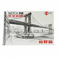 Альбом для графики SANTI, А5, ''Fine art sketches'', 20 л. 190 г/м2