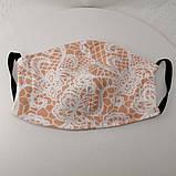 Багаторазова 3 шарова захисна трикотажна тканинна маска, маска для обличчя багаторазова Дитячий або Дорослий, фото 3
