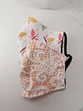 Многоразовая 3 слойная защитная  трикотажная тканевая маска, маска для лица многоразовая мягкая, фото 6