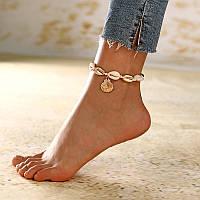 Женский браслет на ногу Ракушка код 1869