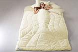 Ковдра вовняна 155х215 зимова двошарова Wool Premium IDEIA, фото 6