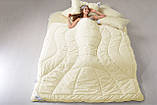 Ковдра вовняна 200х220 зимова двошарова Wool Premium IDEIA, фото 6