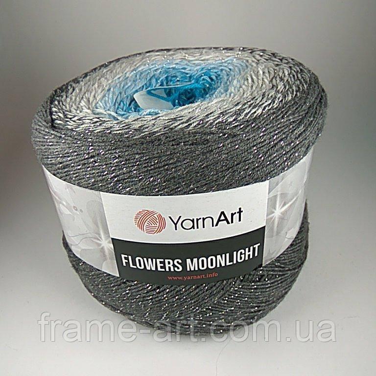 Купить Ярнарт Фловерс Мунлайт 250г/1000м 3251 серо-голубой