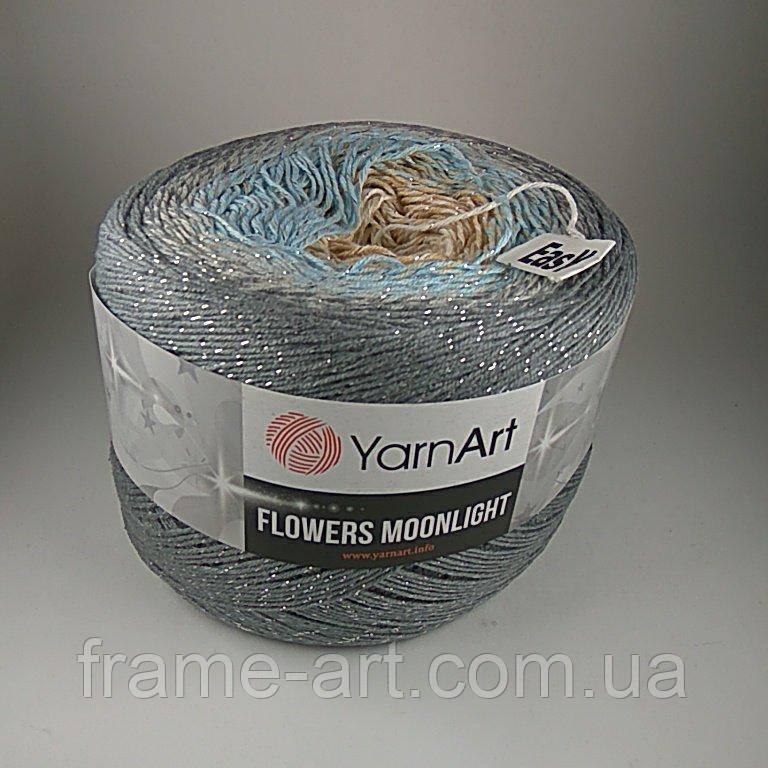 Купить Ярнарт Фловерс Мунлайт 250г/1000м 3268 серо-голубой