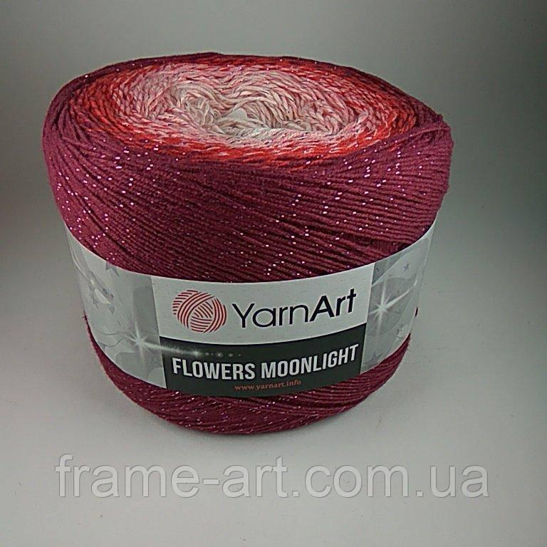 Купить Ярнарт Фловерс Мунлайт 250г/1000м 3269 бордово-розовый