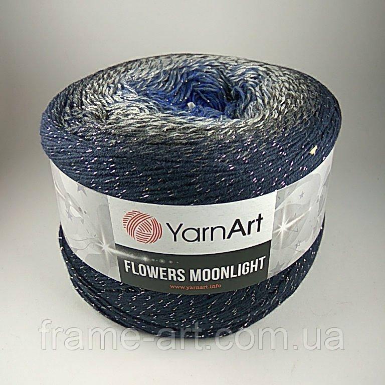 Ярнарт Фловерс Мунлайт 250г/1000м 3275 сине-серый  - купить со скидкой