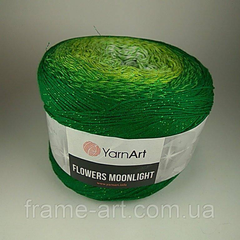 Купить Ярнарт Фловерс Мунлайт 250г/1000м 3283 зелено-салатовый