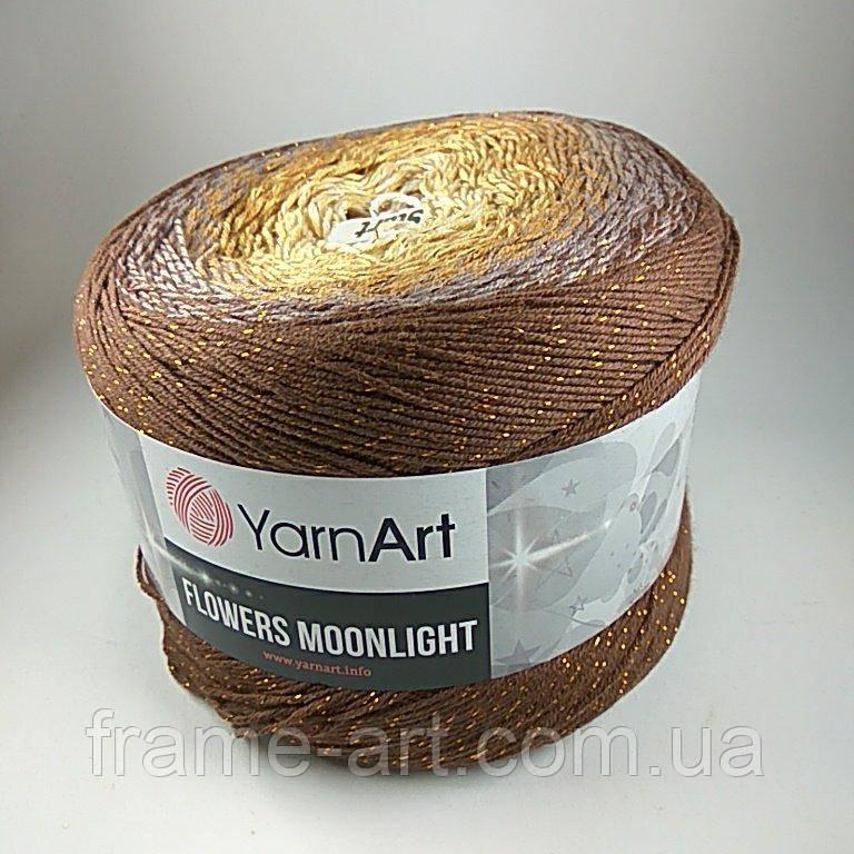 Купить Ярнарт Фловерс Мунлайт 250г/1000м 3284 коричнево-рыжий