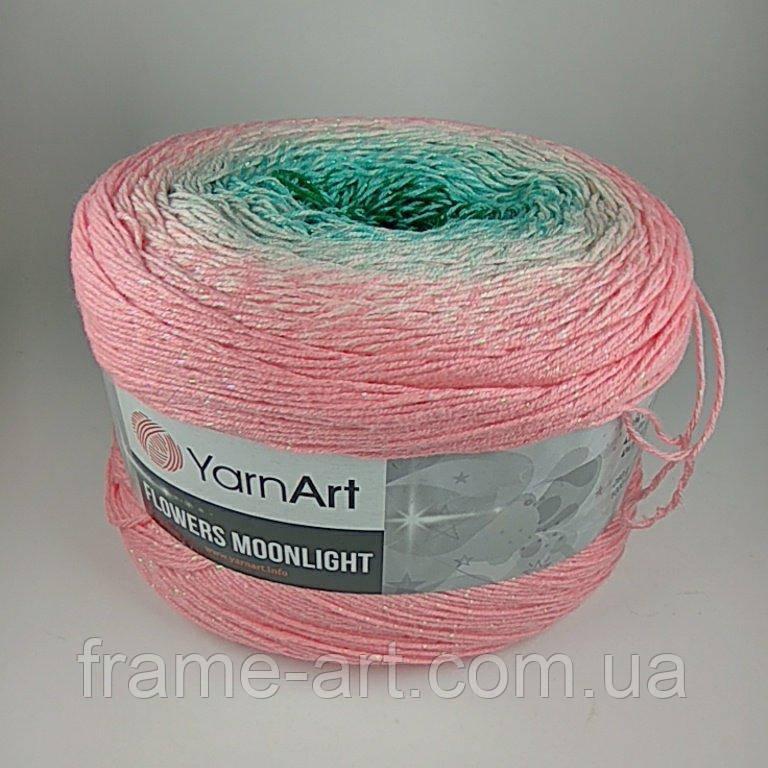 Купить Ярнарт Фловерс Мунлайт 250г/1000м 3292 розово-бирюзовый