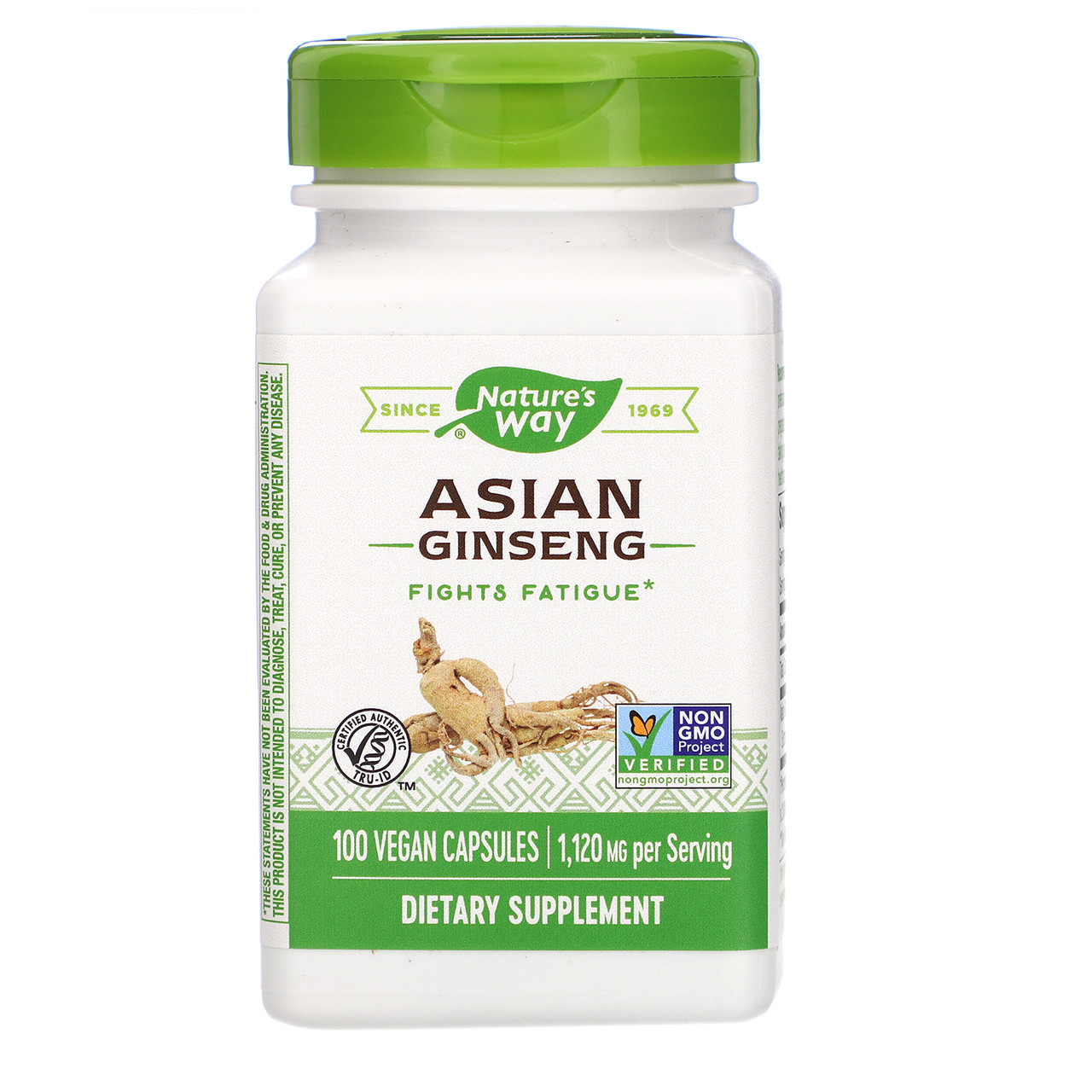 "Азиатский женьшень Nature's Way ""Asian Ginseng"" 1120 мг (100 капсул)"