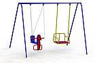 """Гойдалки дитячі вуличні ,подвійні """"Конячка-2 """", фото 9"""