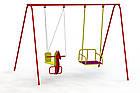 """Гойдалки дитячі вуличні ,подвійні """"Конячка-2 """", фото 10"""