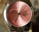 Наручные кварцевые часы HS0080 с металлическим браслетом серебристого цвета, фото 2