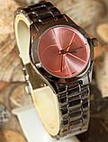 Наручные кварцевые часы HS0080 с металлическим браслетом серебристого цвета, фото 3