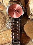 Наручные кварцевые часы HS0080 с металлическим браслетом серебристого цвета, фото 5