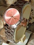 Наручные кварцевые часы HS0080 с металлическим браслетом серебристого цвета, фото 4