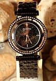 Наручные кварцевые часы HS0082 с металлическим браслетом черного цвета, фото 2
