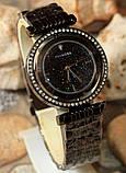 Наручные кварцевые часы HS0082 с металлическим браслетом черного цвета, фото 4