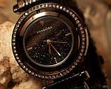 Наручные кварцевые часы HS0082 с металлическим браслетом черного цвета, фото 5