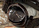 Наручные кварцевые часы HS0082 с металлическим браслетом черного цвета, фото 7