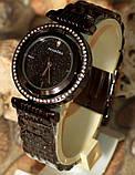 Наручные кварцевые часы HS0082 с металлическим браслетом черного цвета, фото 6