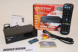 World Vision T62A цифровой эфирный DVB-T2 тюнер (универсальный пульт)