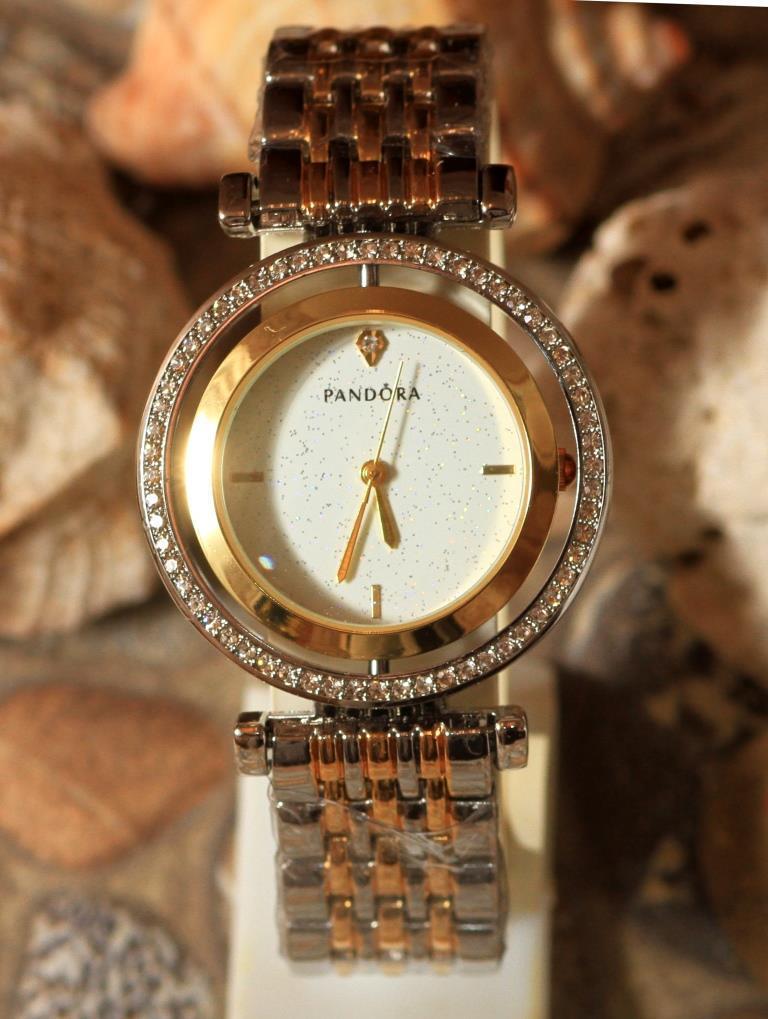 Наручные кварцевые часы HS0089. Металлический браслет из комбинация золота и серебра