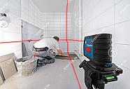 Bosch GLL 2-15 Professional Линейный лазерный нивелир + BM3 + кейс (0601063702) , фото 2