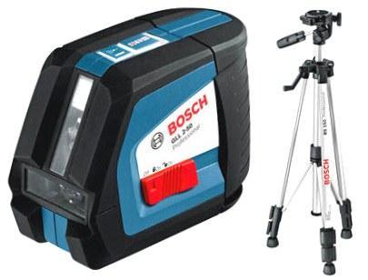 Bosch GLL 2-50 + штатив BS 150 (105) Линейный лазерный нивелир (0601063105)