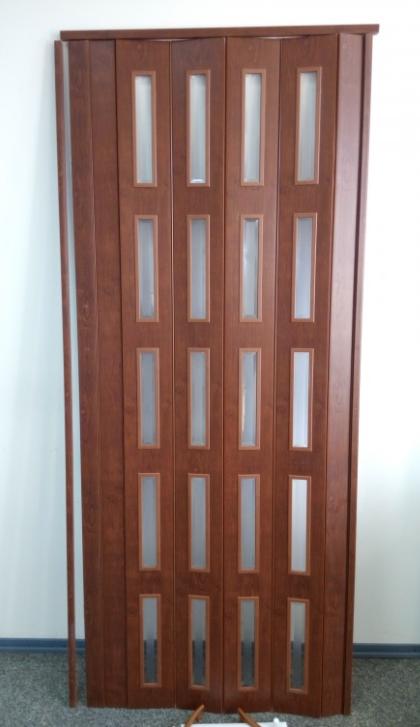Дверь гармошка  ЭКО Каштан 811