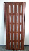 Дверь гармошка  ЭКО Каштан 811, фото 1