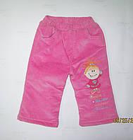 Детские брюки вельветовые на флисе на девочку