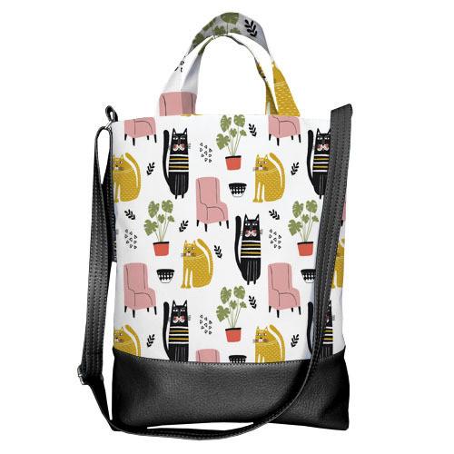 Городская сумка City Котики (SCB_20M004_BL)