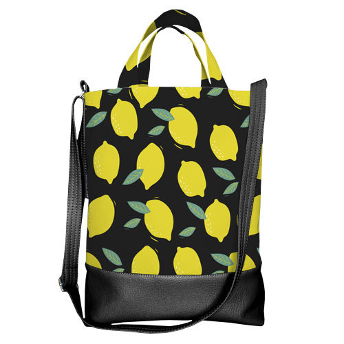 Городская сумка City Лимоны (SCB_20M003_BL)