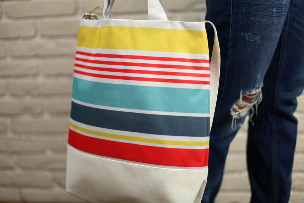Городская сумка City Разноцветные полосы (SCB_16A004_WH)
