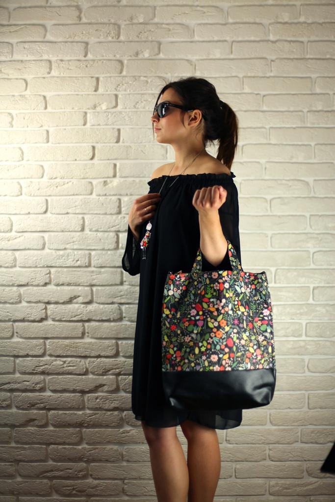 Городская сумка City Цветочное настроение (SCB_16A067_BL)