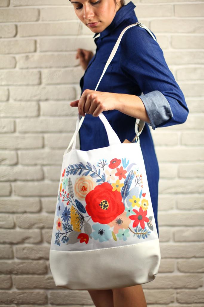 Городская сумка City Цветы (SCB_16A008_WH)