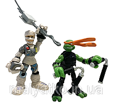 Набор мини-фигурок Микеланджело и Крысиный король - Michelangelo and Rat King, 4Kids, Playmates