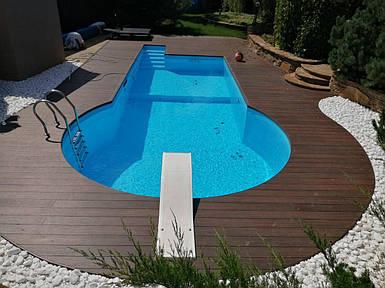 Поліпропіленовий басейн від виробника - 10,0 x 3,8 x 1,5 м