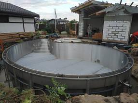 Поліпропіленовий басейн прямокутний - 8,0 x 4,0 x 1,5 м, фото 2