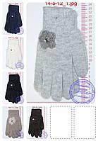 Оптом женские перчатки вязаные шерстяные двойные - разные цвета - 14-5-12, фото 1