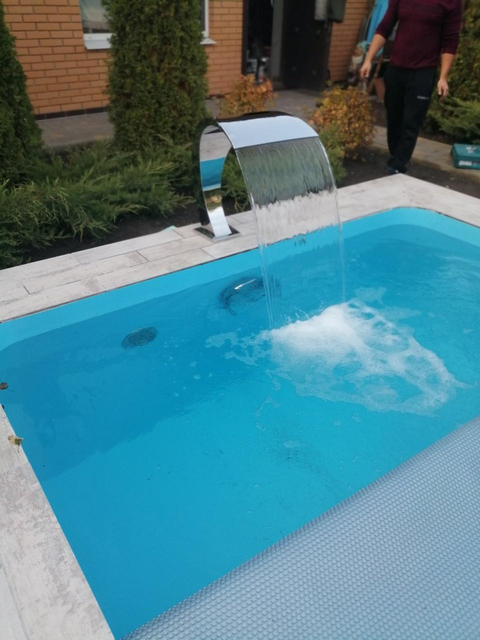 Полипропиленовый бассейн от производителя - 15,0 x 5,0 x 1,5 м ПОД КЛЮЧ!