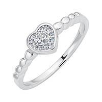 Серебряное кольцо Ода сердца с фианитами 000116342 18 размер