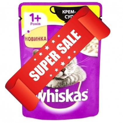 Влажный корм для кошек Whiskas Крем-суп с курицей 85 г